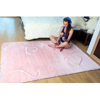 Detský plyšový koberec RUŽOVÝ