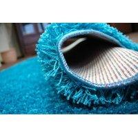 Kusový koberec SHAGGY - tyrkysový
