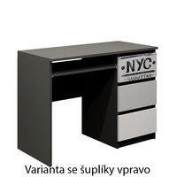 SKLADOM: Písací stôl - NEW YORK TYP A - dekor buk