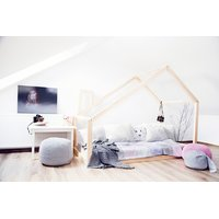 SKLADOM: Detská posteľ z masívu DOMČEK - TYP D 160x80 cm