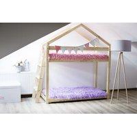 SKLADOM: Detská posteľ z masívu Poschodová DOMČEK - TYP B 190x90 cm