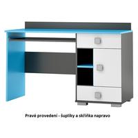 SKLADOM: Písací stôl - BLUE TYP A - pravé prevedenie