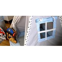 Detský stan TEEPEE (TÍPÍ) LUXURY s doplnkami - LABKOVÁ PATROLA - šedo / modrý