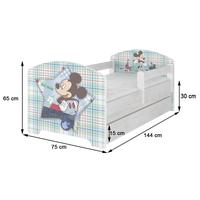 SKLADOM: Detská posteľ Disney - FROZEN 2 140x70 cm - Elsa, Anna a Olaf + MATRACE