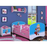 Detská posteľ so zásuvkou 160x80cm BOŘEK STAVITEL