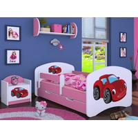 Detská posteľ so zásuvkou 160x80cm RED CAR