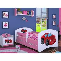 Detská posteľ so zásuvkou 180x90cm RED CAR