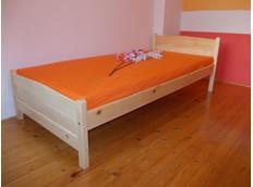 Vyššia posteľ z MASÍVU Ignazio 200x90 cm + ROŠT
