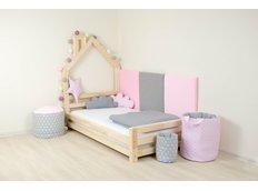 Detská dizajnová posteľ DOMČEK 2 bez šuplíku