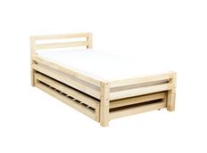 Dizajnová posteľ z masívu SINGLE so zásuvkou