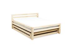 Dizajnová posteľ DOUBLE bez šuplíku