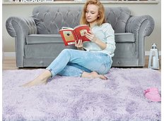 Detský plyšový koberec MAX levanduľovej.