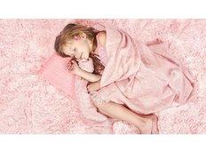 Plyšový detský koberec MAX svetlo ružový.