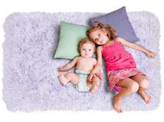 Plyšový detský koberec MAX levanduľovou