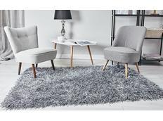 Kusový koberec Shaggy MAX inspiration - tmavosivý