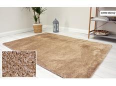 Kusový koberec Shaggy MAX velvet - svetlo béžový