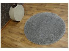 Okrúhly koberec SHAGGY Nariño sivý