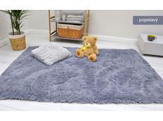 Detský plyšový koberec MAX popolavé