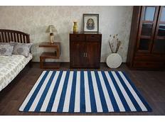 Moderné koberec modro-biely F758