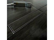 Odtokový sprchovací žľab HOME steel - pre vloženie dlažby