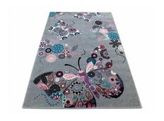 Detský koberec Motýliky - sivý