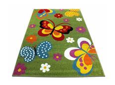 Detský koberec Farební motýle - zelený