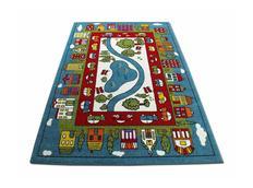 Detský koberec Domčeky - modrý