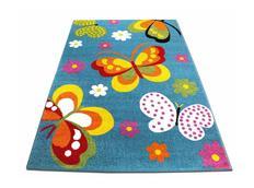 Detský koberec Farební motýle - modrý