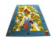 Detský koberec Veselá zoo - modrý