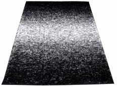 Kusový koberec SHAGGY TOP - čierno-biely