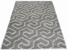 Kusový koberec SHAGGY TOP - 463 - sivý