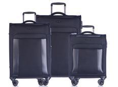 Moderné cestovné kufre BERLIN - čierne