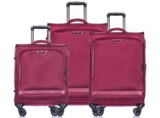 Moderné cestovné kufre COPENHAGEN - červené
