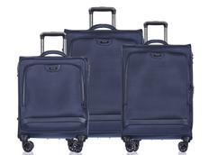 Moderné cestovné kufre COPENHAGEN - modré