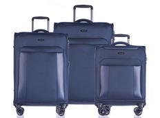 Moderné cestovné kufre BERLIN - modré