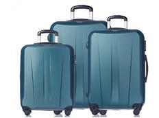 Moderné cestovné kufre PARIS - tyrkysové