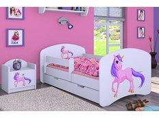Detská posteľ so zásuvkou 180x90cm Jednorožec