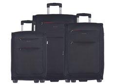 Moderné cestovné kufre Camerino - čierne