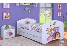 Detská posteľ so zásuvkou 160x80cm SAFARI