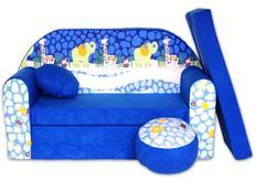 Detská pohovka Modrá ZOO - Detské pohovky