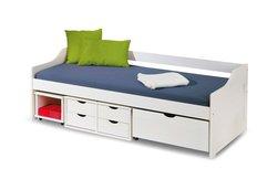 Detská posteľ z masívu so zásuvkami 200x90cm FLÓRA