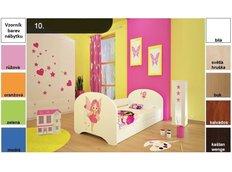 Detská posteľ pre DVA (s výsuvným lôžkom) 180x90 cm - VÍLA