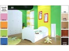 Detská posteľ pre DVA (s výsuvným lôžkom) 180x90 cm - bez motívu