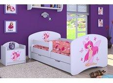 Detská posteľ so zásuvkou 160x80cm VÍLA A MOTÝLCI