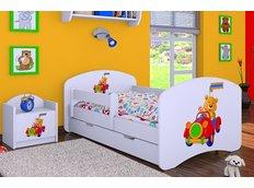 Detská posteľ so zásuvkou 180x90cm VESELÝ PSÍK