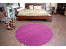 Okrúhly koberec FIALOVÝ