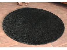 Okrúhly koberec SHAGGY BLACK