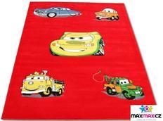Detský koberec CARS red