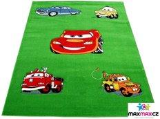 Detský koberec CARS green