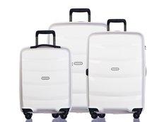 Moderné cestovné kufre ACAPULCO - biele